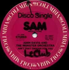 JOHN DAVIS / MONSTER ORCHESTRA Ain't That Enough For You (1978 2 Track 12inch)