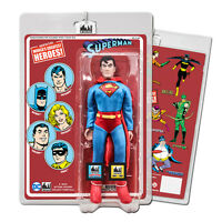 "DC Comics Superman 8"" Action Figure on Retro Style Retro Card (New Head Sculpt)"