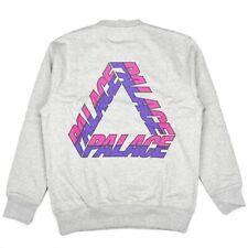 NWT Palace Men's Split P3 Tri Ferg Logo Crew Sweatshirt Gray M FW19 DS AUTHENTIC