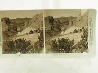 Gateway to the Garden of the Gods & Pikes Peak Real Photo Stereoview Card