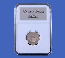 Elite Slab Coin Holder Shield Nickel with Etched Metal Label Little Bear