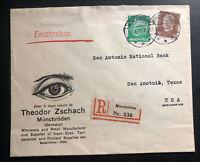 1935 Monchroden Germany Advertising Glasses cover To San Antonio Tx USA