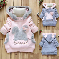 KIDS GIRLS JACKET HOODED WINTER TOP FLEECE SWEATER TRENCH PARKA COAT OUTWEAR
