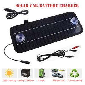 Solarpanel 12V Erhaltungsladung Batterieladegerät Batterielader Auto KFZ Boot