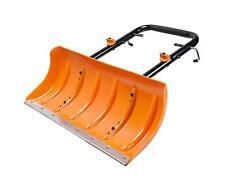 New Black Orange Aerocart Snow Plow Attachment - Galvanized Steel Rust Resistant
