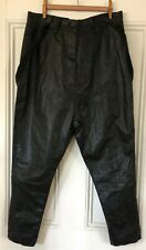 NWT RUNDHOLZ BLACK LABEL DROP CROTCH Faux leather Suspender Pants S Small