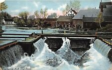 Laconia New Hampshire c1910 Postcard The Dam