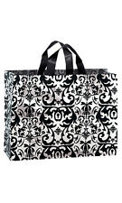 Frosty Shopping Bags in Black Damask 8 x 5 x 10 Inches - Case of 25
