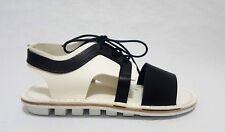 NEW Trippen Rack Black White Leather Sandals Shoe Size  EU 42