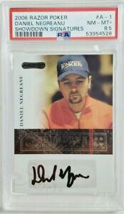 2006 Razor Poker Signatures Daniel Negreanu Rookie Autograph RC Auto PSA 8.5
