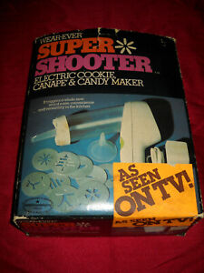 Vintage Wear-Ever Super Shooter Electric Cookie, Canape & Candy Maker