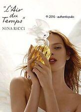 PUBLICITE NINA RICCI L'AIR DU TEMPS PARFUM FLACON DE 2010 FRENCH AD PUB SENSUEL