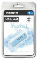 Integral 16GB Blue Sky Pastel USB 3.0 Flash Drive. INFD16GBPASBLS3.0