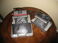 2 Nice Polaroid Cameras 202 and 402 2 for 1 Price!