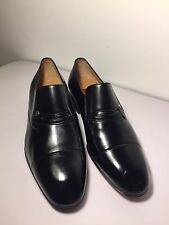 Authentic un TESTONI uomo scarpe in pelle nera UK7, 5