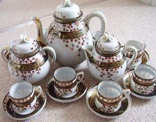 Japanese Satsuma-Kutani Egg shell porcelain tea-coffee set ,set of 19 pieces