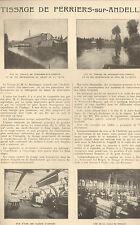 27 PERRIERS-SUR-ANDELLE TISSAGE BOULANGER PUBLI-REPORTAGE 1924