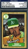 Tony Larussa Psa/dna Signed 1987 Topps Authentic Autograph