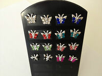 NEW 925 Sterling Silver Diamante Butterfly Stud Earrings *See Special Offer*