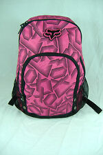 New Junior Womens Fox Racing Riders Pink Black Backpack Book Bag