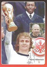 Autogramm AK Bernd Hölzenbein Eintracht Frankfurt weltmeister WM 1974 DFB POKAL
