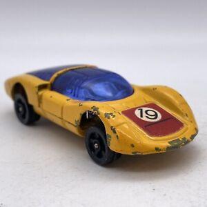 Corgi Rockets 1:64 Porsche Carrera 6 Yellow Loose Vintage Mtl/Mtl Opening Parts