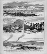SIOUX WAR GENERAL CROOK'S INDIAN CAMPAIGN SIOUX SIGNAL FIRES WAGON TRAIN HORSES