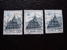 NORVEGE - timbre yvert et tellier n° 726 x3 obl (A30) stamp norway
