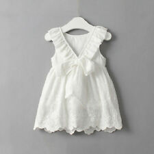 Toddler Kids Baby Girls Princess Dress Party Prom Wedding Bowknot Tutu Dress UK