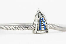 Burj Al Arab Charm Dubai, Delicate SILVER Jewellery, Charm Bead for Bracelet