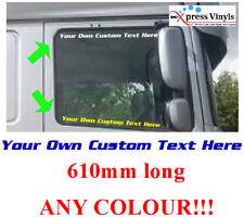 daf scania volvo custom truck decals x 2 window stickers ANY FONT!!!!