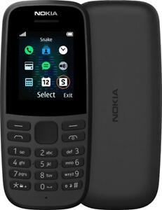 NOKIA 105 2019 SS TELEFONO CELLULARE GSM TASTI GRANDI ANZIANI BLACK NERO NUOVO