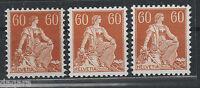 BB.418 - Switzerland, 1915, MNH, Zst # 140, 140 z,140 y, Mi # 140 x, 140 y, 140z
