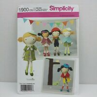 Simplicity Crafts One Size 1900 Doll And Clothes Pattern
