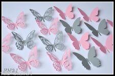 3D Deko Schmetterlinge,16-tlg. Wanddekoration  Wandtattoo FN.21 Party, Glück