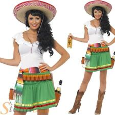 Ladies Tequila Shooter Costume Womens Wild West Mexican Fancy Dress Outfit