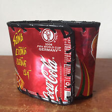 Handmade Coca Cola Coke Soda Can Bifold Wallet 2006 FIFA World Cup Germany