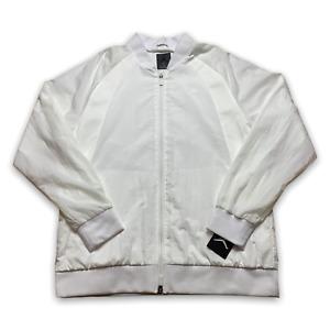 Nike Air Jordan Mens Wings Muscle Jacket White Jumpman 843100-100 Sz Large L New