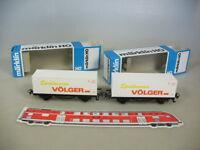 M513-0,5# 2x Märklin/Marklin H0 Containerwagen, Spielwaren Völger, DB, TOP+OVP