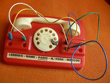 JOUET: PETIT TELEPHONE ANNEES 60 EN PLASTIQUE – PTT CADRAN STANDARD VINTAGE