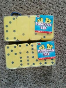 Top Toys Yellow Soft Domino set 28 Pieces 2x Packs Free UK Postage