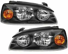 New Pair Headlights Headlamps Left and Right Fits 2004-2006 Hyundai Elantra