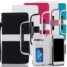 Handy Tasche Samsung Galaxy S3 S4 S5 Mini Schutz Hülle Wallet Case Flip Cover