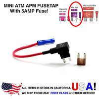 Lumision 16AWG Car Add-A-Circuit ATM APM Mini Fuse Tap Fusetap + 5A Fuse