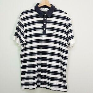 SALVATORE FERRAGAMO Mens Size XL Striped Polo Top
