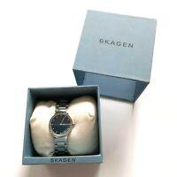 Skagen Denmark Ladies' Watch Silver Blue Analogue Stainless Steel Women's New