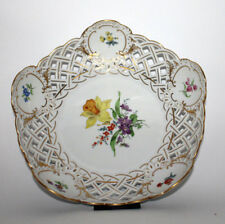 Meissen 54833  Porzellan: Anbietschale Blumenmalerei 1. Wahl/Factory 1st