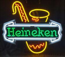 Original Heineken Saxophone Neon Beer Sign Bar Light