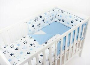 BLUE CRAWN NURSERY BABY BEDDING SET +MORE UNIQUE DESIGNS- FIT COT OR COT BED