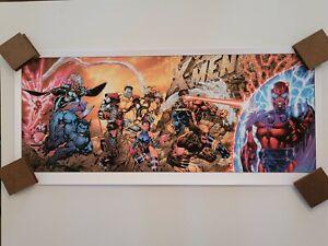 """JIM LEE """"X-MEN #1 GOLD Variant"""" NUM x/225 Poster Print 2021 Bottleneck Marvel"""